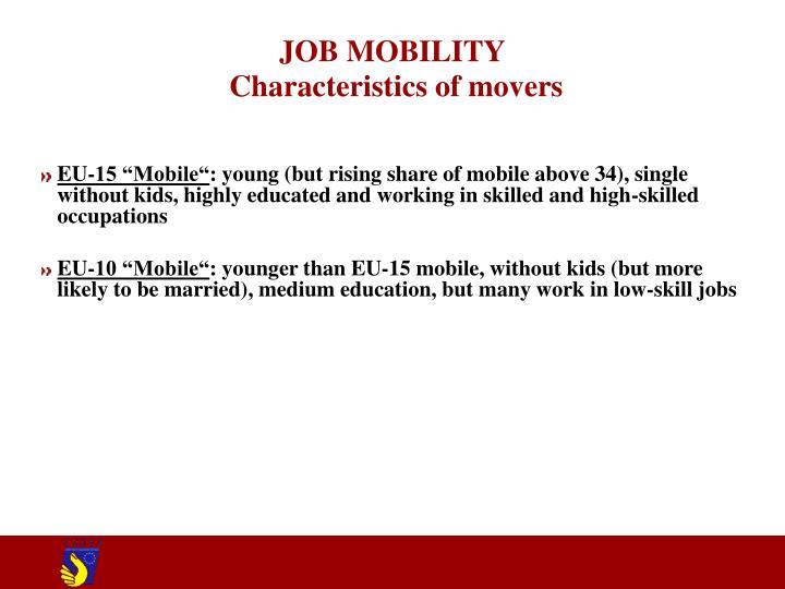 JOB MOBILITY