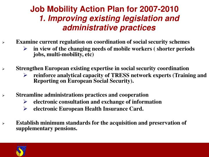 Job Mobility Action Plan for 2007-2010