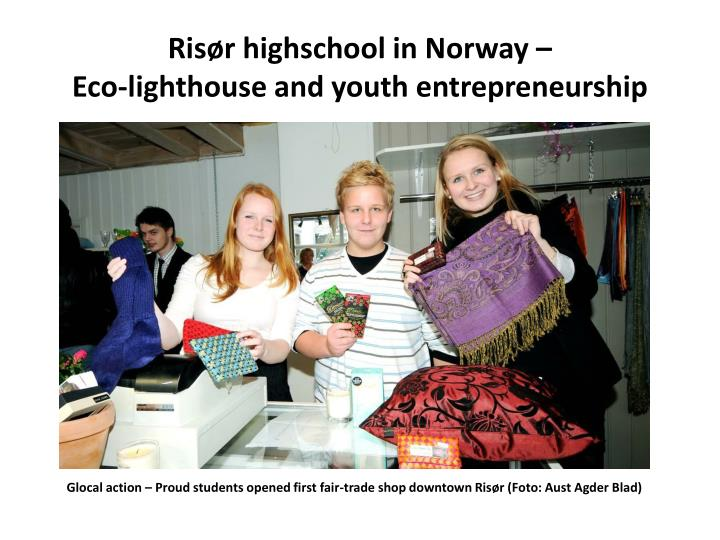 Risør highschool in Norway –