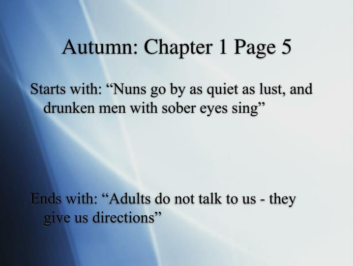 Autumn: Chapter 1 Page 5