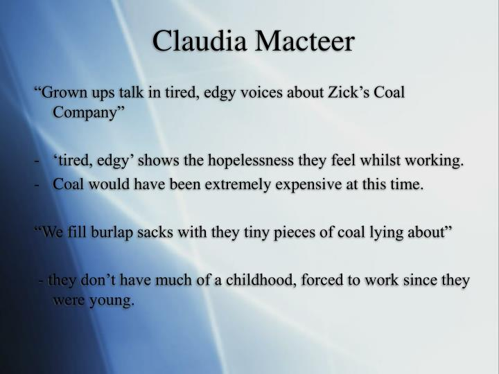 Claudia Macteer