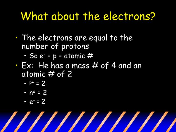 What about the electrons?