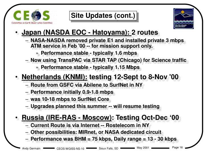 Japan (NASDA EOC - Hatoyama):