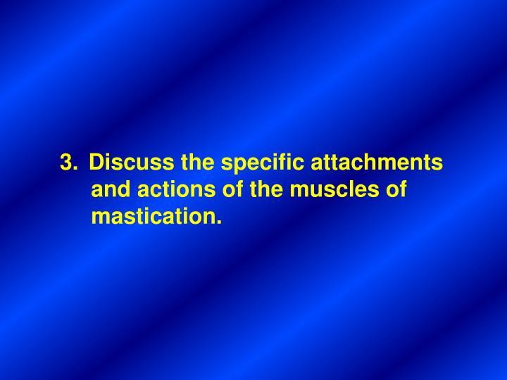 Discuss the specific attachments