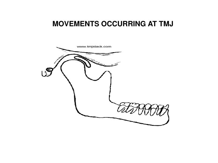 MOVEMENTS OCCURRING AT TMJ