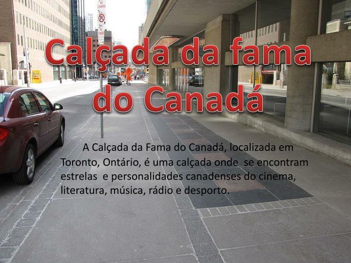 Calçada da fama do Canadá