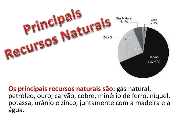 Principais Recursos Naturais
