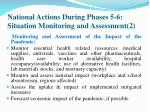 national actions during phases 5 6 situation monitoring and assessment 2