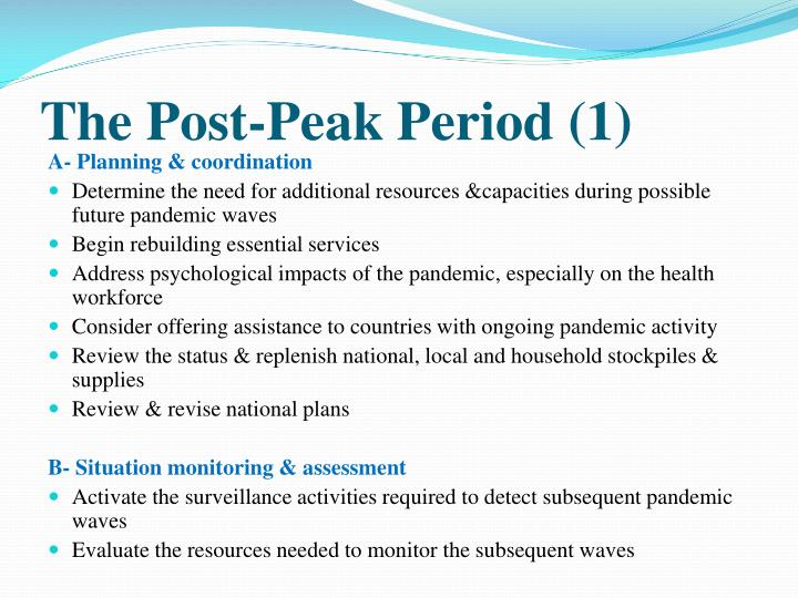 The Post-Peak Period (1)