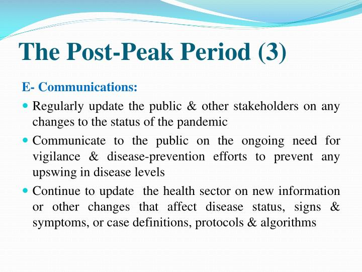 The Post-Peak Period (3)