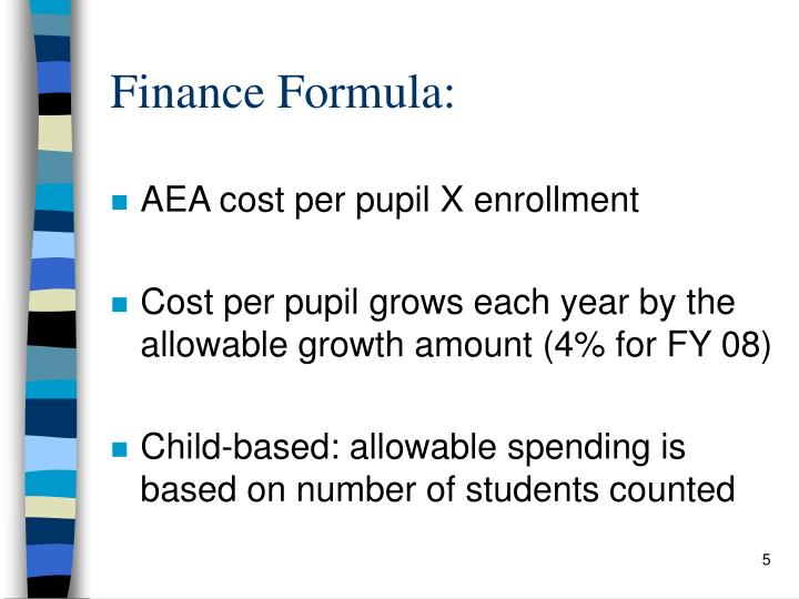 Finance Formula: