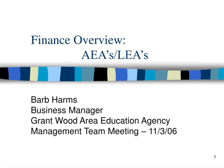 Finance overview aea s lea s