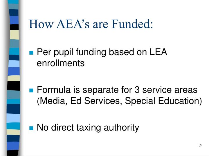 How aea s are funded