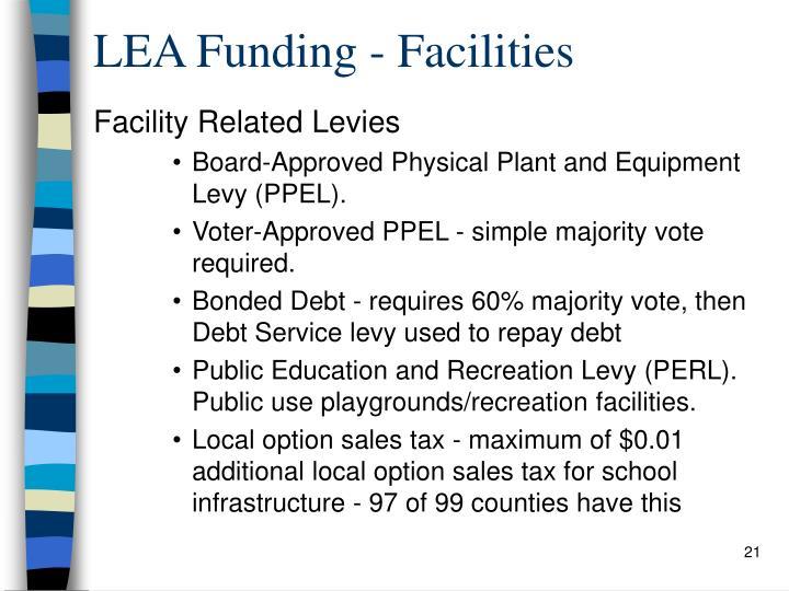 LEA Funding - Facilities