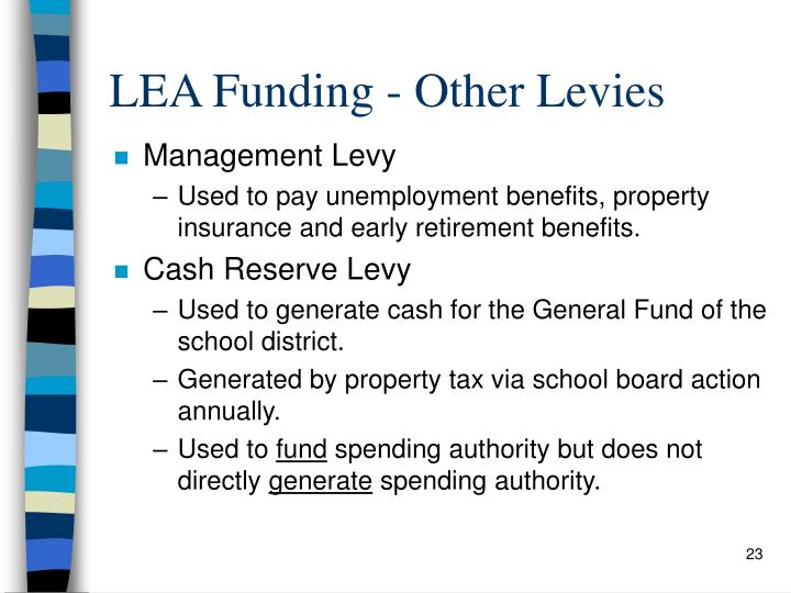 LEA Funding - Other Levies