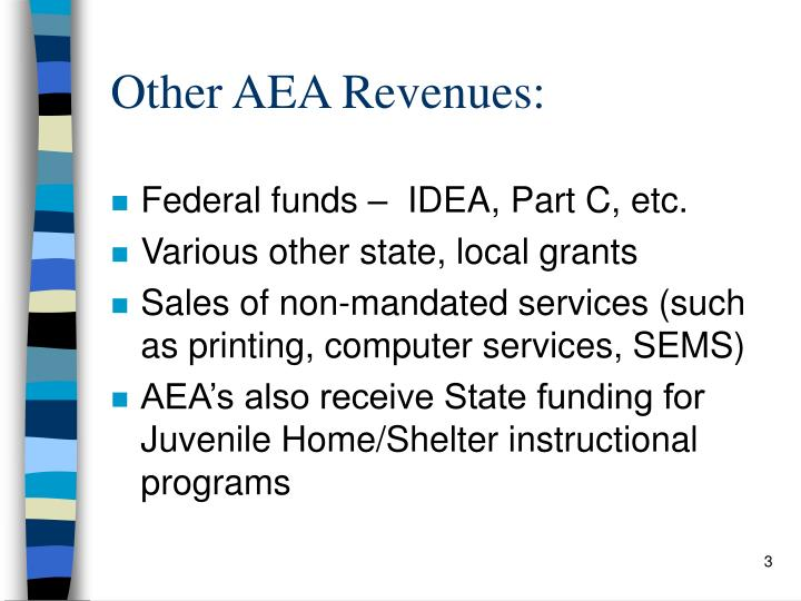 Other AEA Revenues: