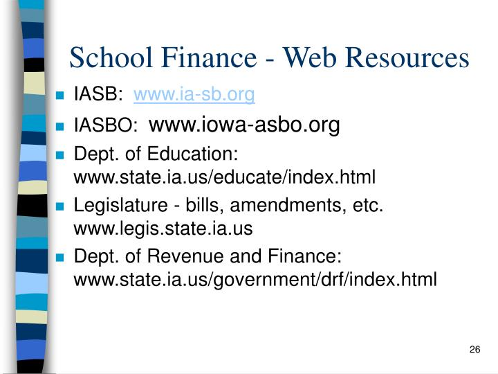 School Finance - Web Resources
