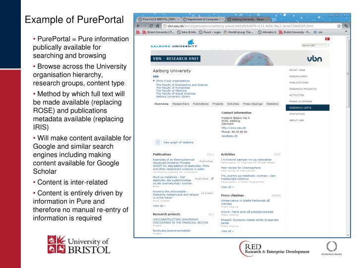 Example of PurePortal