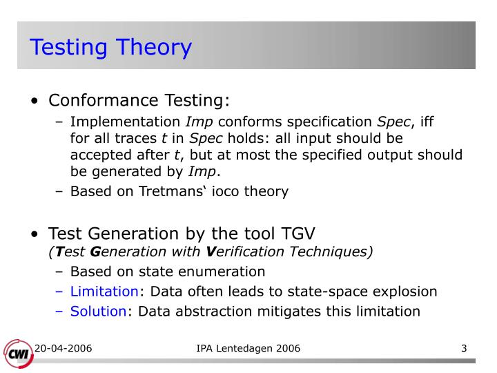 Testing theory