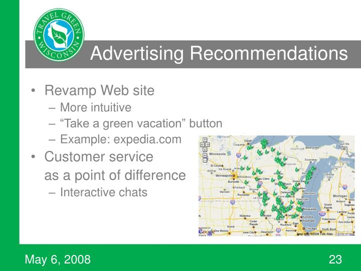 Advertising Recommendations