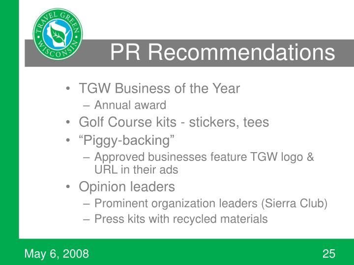 PR Recommendations
