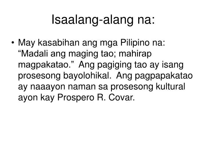 Isaalang-alang na:
