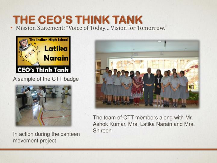 The CEO's Think Tank