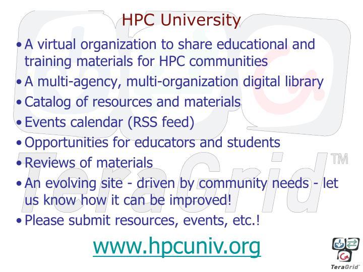 HPC University