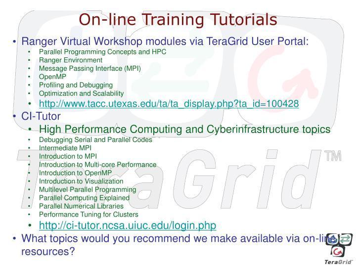 On-line Training Tutorials