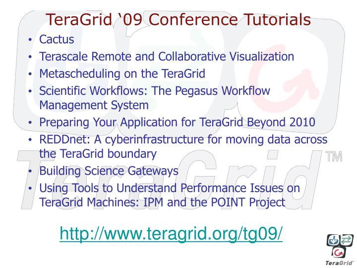 TeraGrid '09 Conference Tutorials