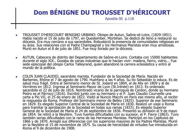 Dom BÉNIGNE DU TROUSSET D'HÉRICOURT