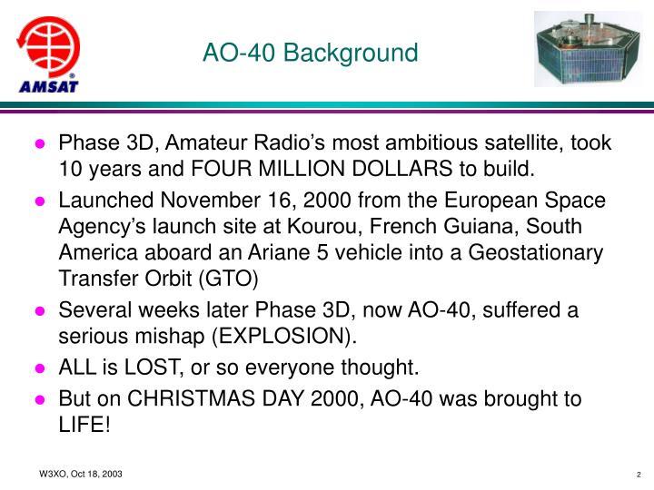 AO-40 Background