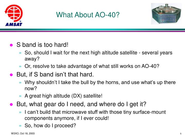 What About AO-40?