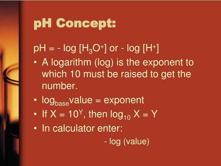 pH Concept: