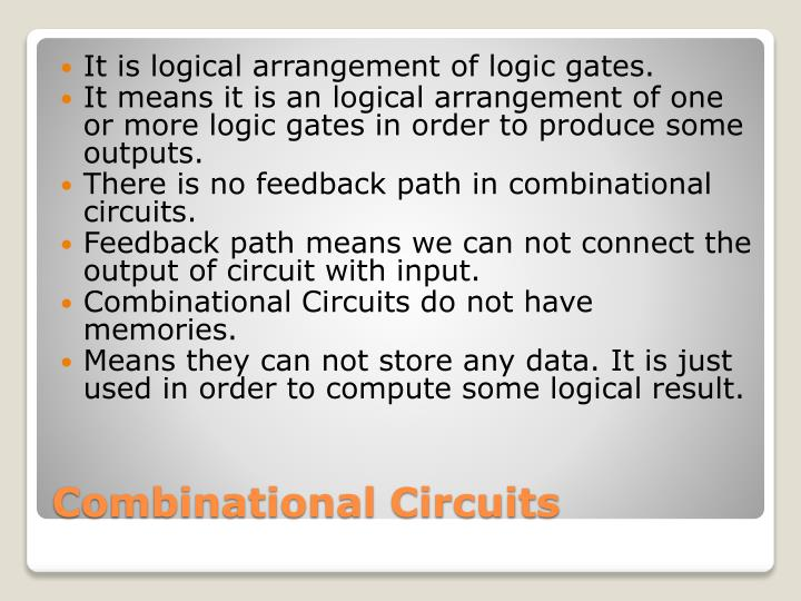 It is logical arrangement of logic gates.