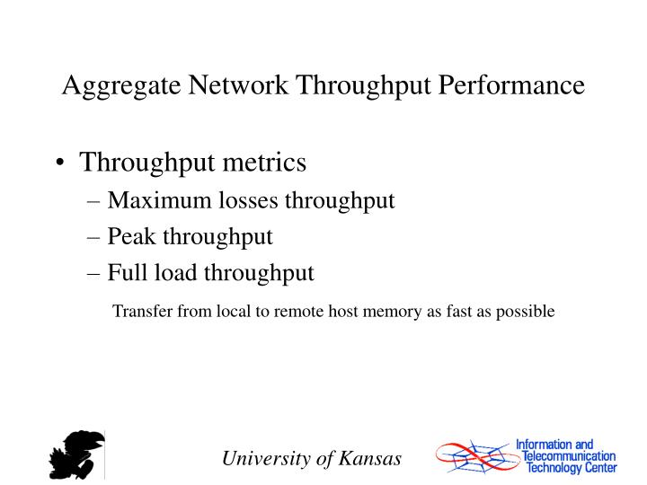 Aggregate Network Throughput Performance