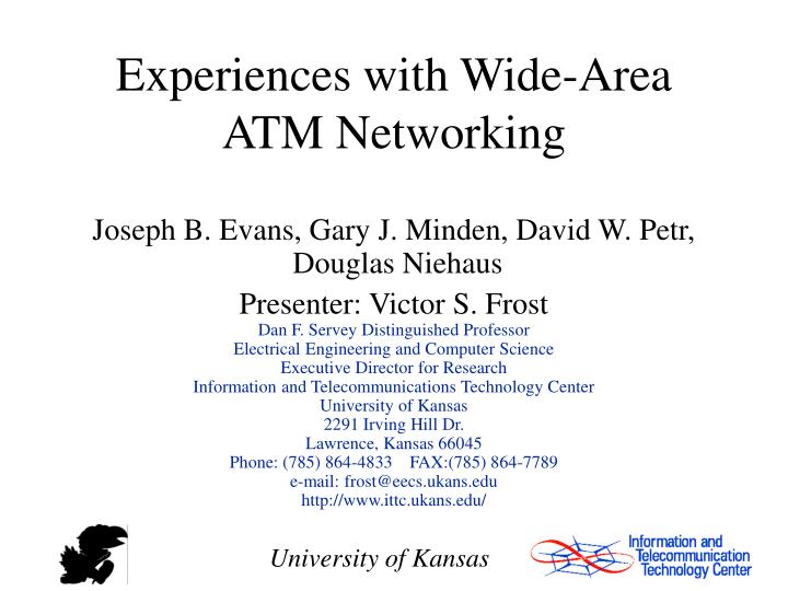 Experiences with Wide-Area ATM Networking