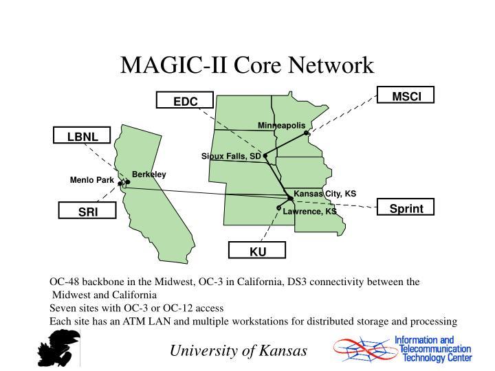 MAGIC-II Core Network