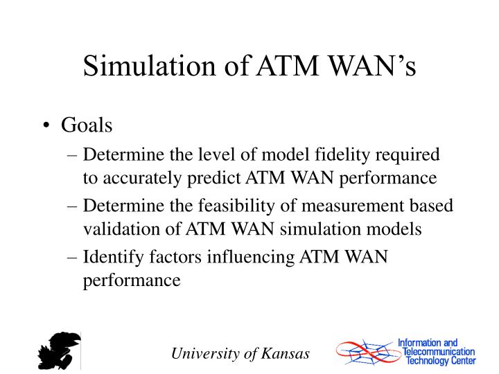 Simulation of ATM WAN's