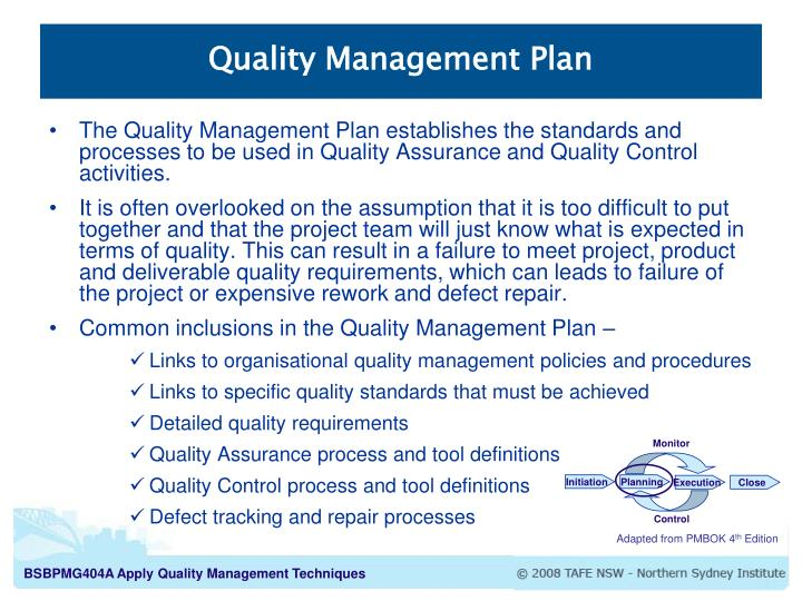 ppt project quality management processes powerpoint
