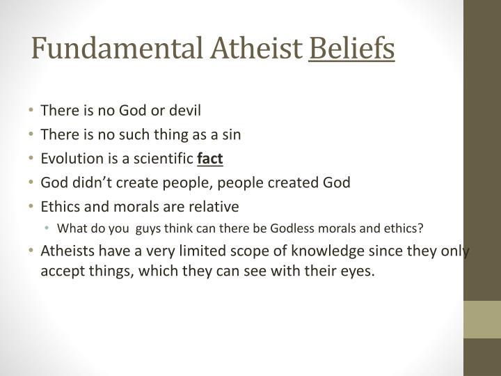 Fundamental Atheist