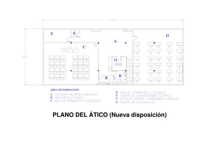 PLANO DEL ÁTICO (Nueva disposición)