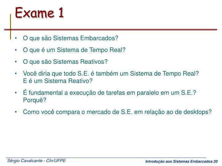 Exame 1