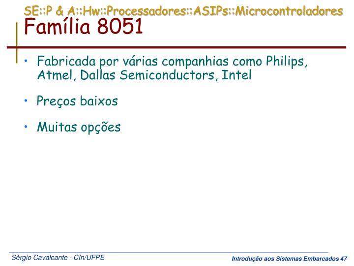 SE::P & A::Hw::Processadores::ASIPs::Microcontroladores