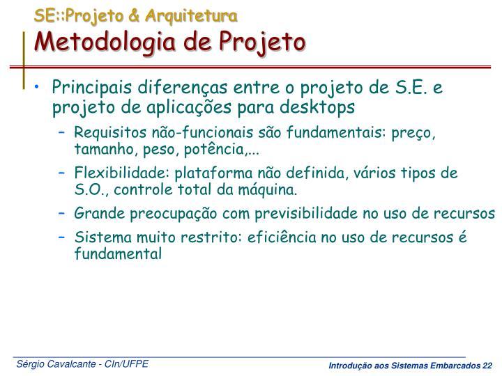 SE::Projeto & Arquitetura