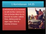 1 korintionan 14 25