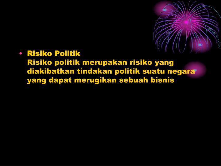 Risiko Politik