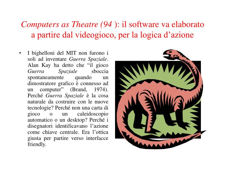 Computers as Theatre (94
