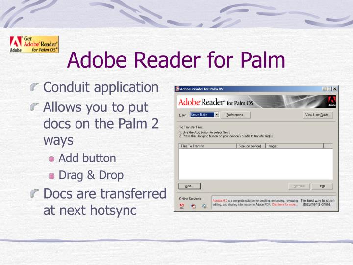 Adobe Reader for Palm