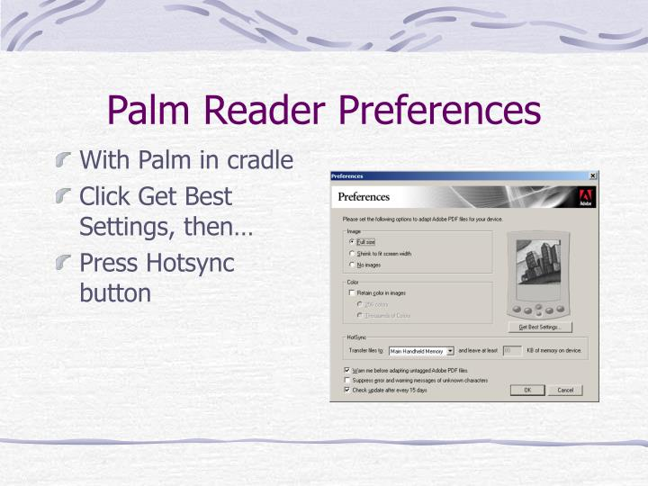Palm Reader Preferences
